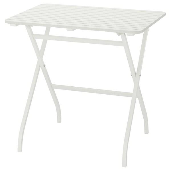MÄLARÖ Tisch/außen faltbar weiß 80 cm 62 cm 74 cm