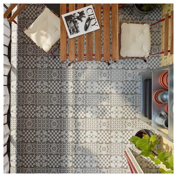 MÄLLSTEN Bodenrost/außen, grau/weiß, 0.81 m²