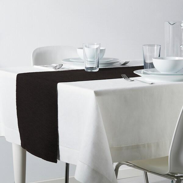 MÄRIT Tischläufer schwarz 130 cm 35 cm