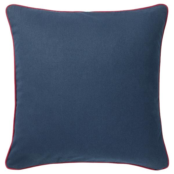 MÅLARBORSTE Kissenbezug, dunkelblau/bunt, 50x50 cm