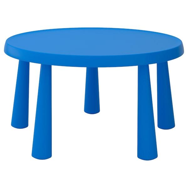 MAMMUT Kindertisch, drinnen/draußen blau, 85 cm
