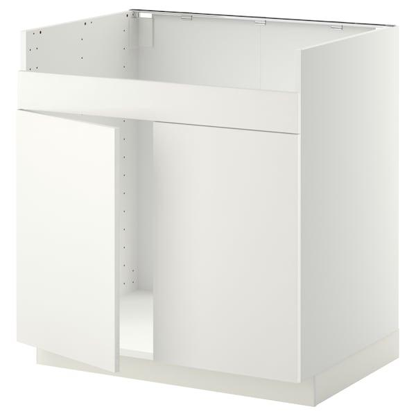METOD Unterschrank f HAVSEN Spüle 2 weiß/Häggeby weiß 80.0 cm 61.6 cm 88.0 cm 60.0 cm 80.0 cm