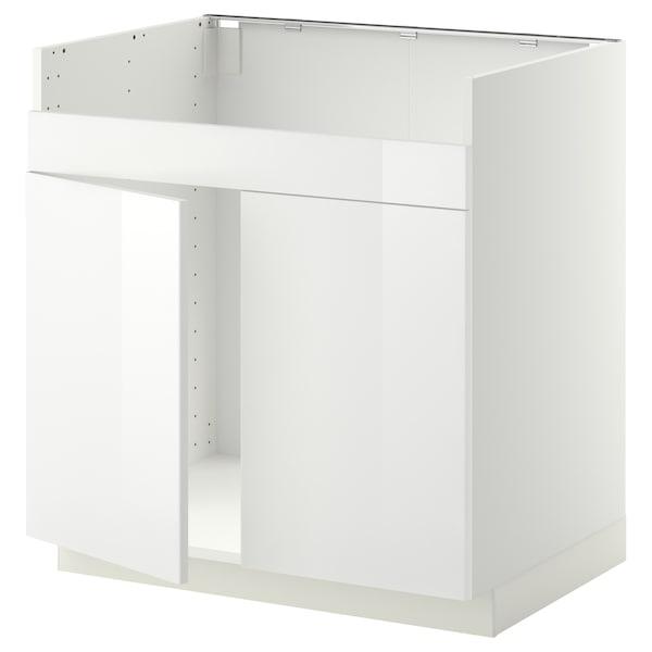 METOD Unterschrank f HAVSEN Spüle 2 weiß/Ringhult weiß 80.0 cm 61.8 cm 88.0 cm 60.0 cm 80.0 cm
