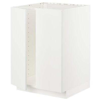 METOD Unterschrank für Spüle + 2 Türen weiß/Häggeby weiß 60.0 cm 61.6 cm 88.0 cm 60.0 cm 80.0 cm