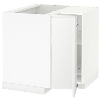 METOD Eckunterschrank+Karussell weiß/Voxtorp matt weiß 87.5 cm 89.6 cm 88.0 cm 87.5 cm 80.0 cm