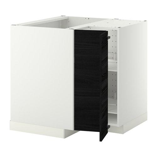 metod eckunterschrank karussell tingsryd holzeffekt schwarz ikea. Black Bedroom Furniture Sets. Home Design Ideas