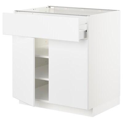 METOD / FÖRVARA Unterschr m Schub/2 Türen weiß/Kungsbacka matt weiß 80.0 cm 61.6 cm 88.0 cm 60.0 cm 80.0 cm