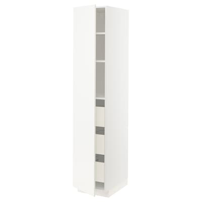 METOD / FÖRVARA Hochschrank m Schubladen weiß/Veddinge weiß 40.0 cm 61.6 cm 208.0 cm 60.0 cm 200.0 cm