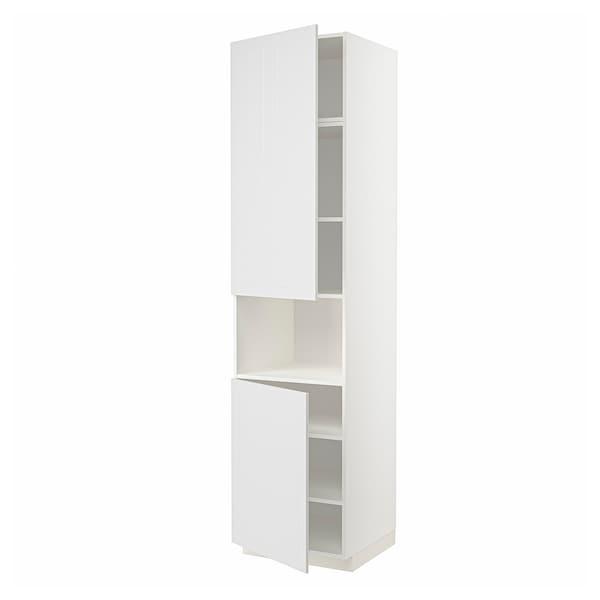 METOD Hochschr. f Mikrow.+2Türen/Bö, weiß/Stensund weiß, 60x60x240 cm