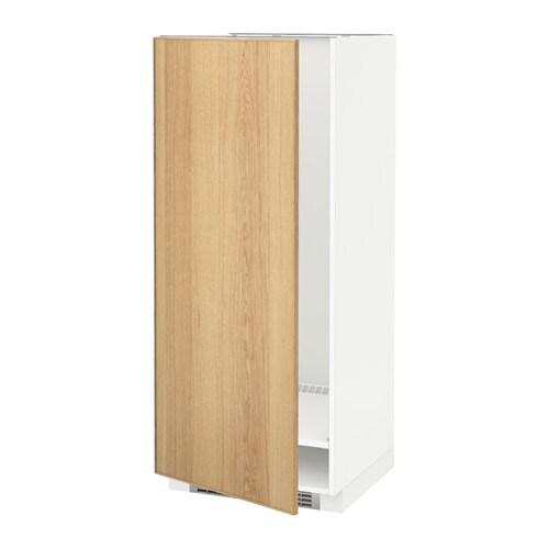 metod hochschrank f k hl gefrierschrank ekestad eiche 60x60x140 cm ikea. Black Bedroom Furniture Sets. Home Design Ideas