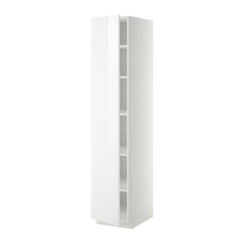 metod hochschrank mit einlegeb den ringhult hochglanz wei 40x60x200 cm ikea. Black Bedroom Furniture Sets. Home Design Ideas