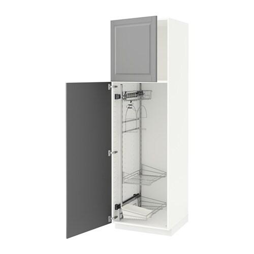 metod hochschrank mit putzschrankeinr bodbyn grau 60x60x200 cm ikea. Black Bedroom Furniture Sets. Home Design Ideas