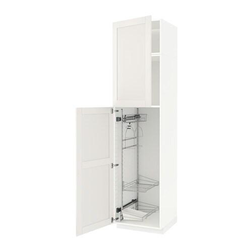 metod hochschrank mit putzschrankeinr s vedal wei 60x60x240 cm ikea. Black Bedroom Furniture Sets. Home Design Ideas