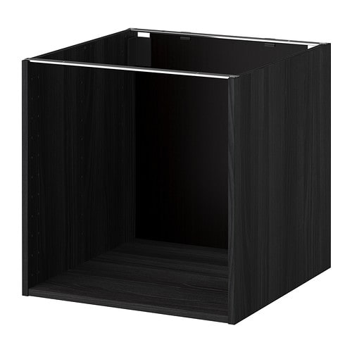 metod korpus unterschrank holzeffekt schwarz 60x60x60 cm ikea. Black Bedroom Furniture Sets. Home Design Ideas