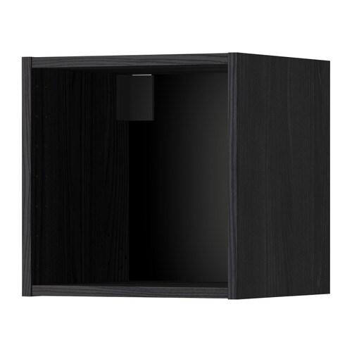metod korpus wandschrank holzeffekt schwarz 40x37x40 cm ikea. Black Bedroom Furniture Sets. Home Design Ideas