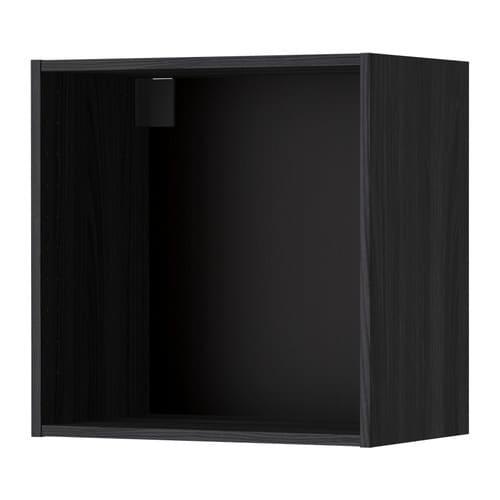 metod korpus wandschrank holzeffekt schwarz 60x37x60 cm ikea. Black Bedroom Furniture Sets. Home Design Ideas