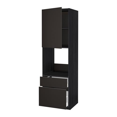 metod maximera hochschrank f backofen t r 2schubl holzeffekt schwarz kungsbacka anthrazit. Black Bedroom Furniture Sets. Home Design Ideas