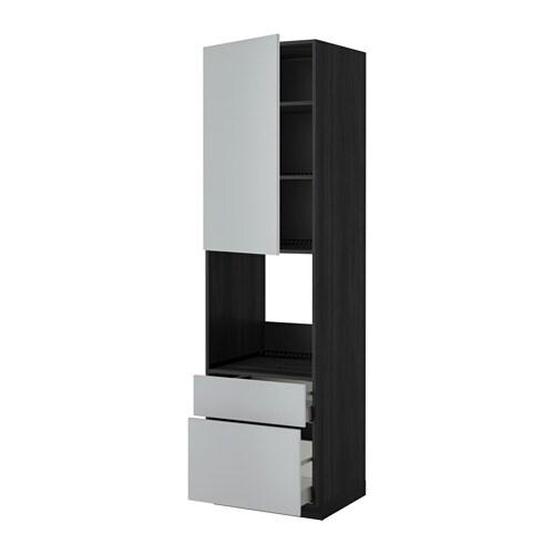 metod maximera hochschrank f backofen t r 2schubl holzeffekt schwarz veddinge grau. Black Bedroom Furniture Sets. Home Design Ideas