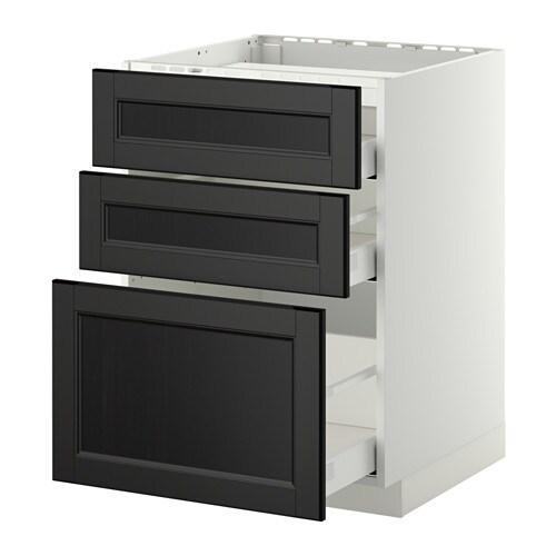 Ikea Fronten Küche metod maximera unterschr f kochf 3 fronten 3sch laxarby schwarzbraun 60x60 cm ikea
