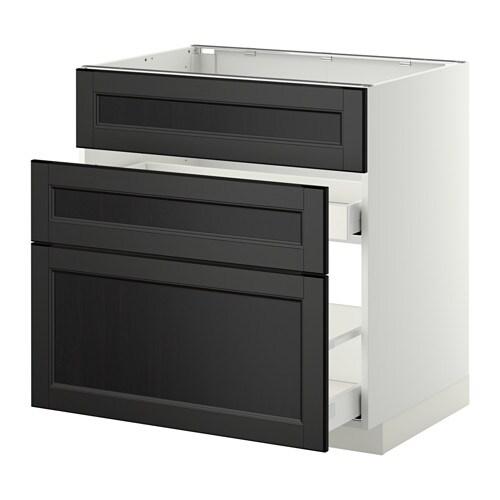 metod maximera unterschr f sp le 3 fronten 2sch laxarby schwarzbraun 80x60 cm ikea. Black Bedroom Furniture Sets. Home Design Ideas