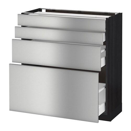 metod maximera unterschr 4 fronten 4 schubladen holzeffekt schwarz grevsta edelstahl. Black Bedroom Furniture Sets. Home Design Ideas
