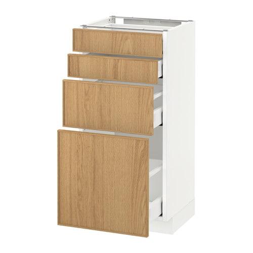 metod maximera unterschr 4 fronten 4 schubladen ekestad eiche 40x37 cm ikea. Black Bedroom Furniture Sets. Home Design Ideas