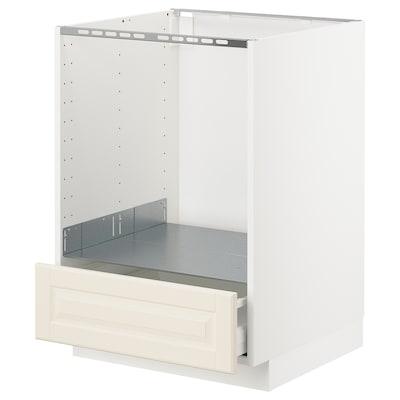 METOD / MAXIMERA Unterschrank für Ofen mit Schubl, weiß/Bodbyn elfenbeinweiß, 60x60 cm