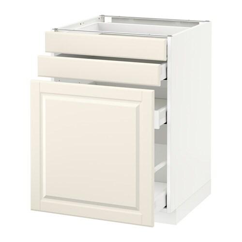 metod maximera unterschrank m vollauszug 2 fronten bodbyn elfenbeinwei 60x60 cm ikea. Black Bedroom Furniture Sets. Home Design Ideas