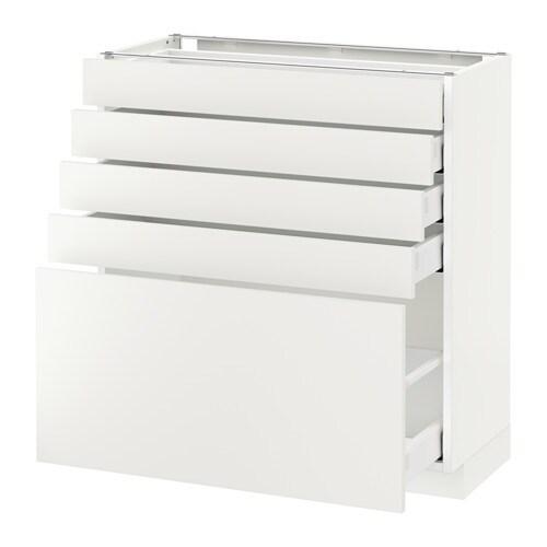 Unterschrank Schubladen Küche metod maximera unterschrank mit 5 schubladen häggeby weiß 80x37