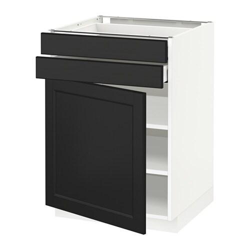 Laxarby Kuche Weiß : mit Tür+2 Schubladen  Laxarby schwarzbraun, weiß, 60×60 cm  IKEA