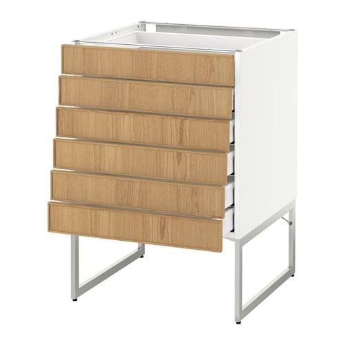 metod maximera uschr 6 fr 6 ni sch ekestad eiche 60x60x60 cm ikea. Black Bedroom Furniture Sets. Home Design Ideas