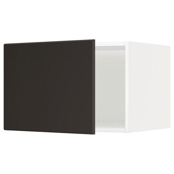 METOD Oberschr f Kühl-/Gefrierschrank, weiß/Kungsbacka anthrazit, 60x40 cm