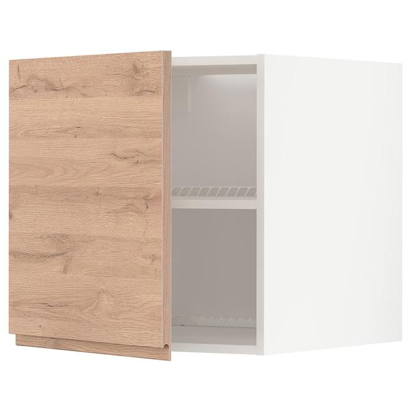 METOD Oberschr f Kühl-/Gefrierschrank, weiß/Voxtorp Eichenachbildung, 60x60 cm