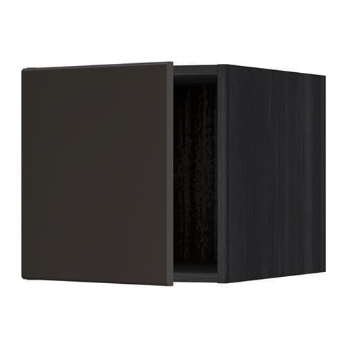 metod oberschrank holzeffekt schwarz kungsbacka anthrazit ikea. Black Bedroom Furniture Sets. Home Design Ideas