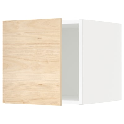 METOD Oberschrank, weiß/Askersund Eschenachbildung hell, 40x40 cm