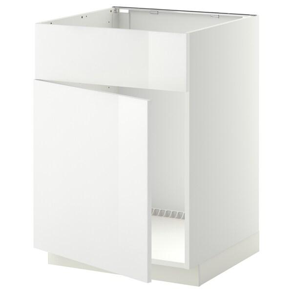 METOD Unterschr f Spüle+Tür/Front, weiß/Ringhult weiß, 60x60 cm