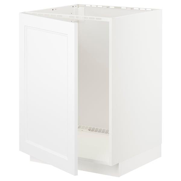METOD Unterschrank für Spüle, weiß/Axstad matt weiß, 60x60 cm