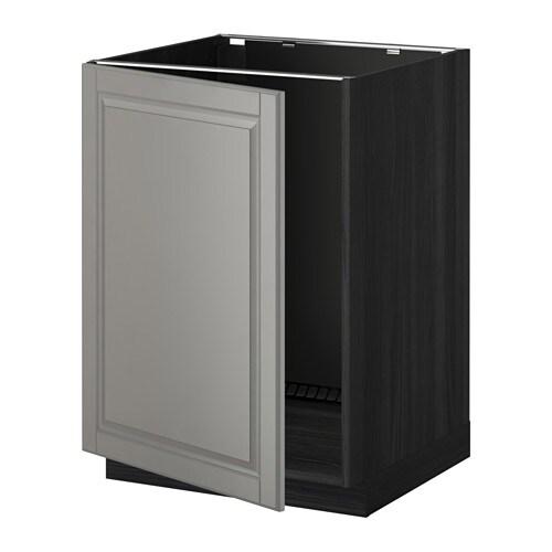 Drehstuhl Ikea Skruvsta Rot ~   Unterschrank für Spüle  Holzeffekt schwarz, Bodbyn grau  IKEA