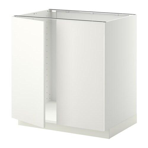 METOD Unterschrank für Spüle + 2 Türen - Häggeby weiß, 80x60 cm - IKEA