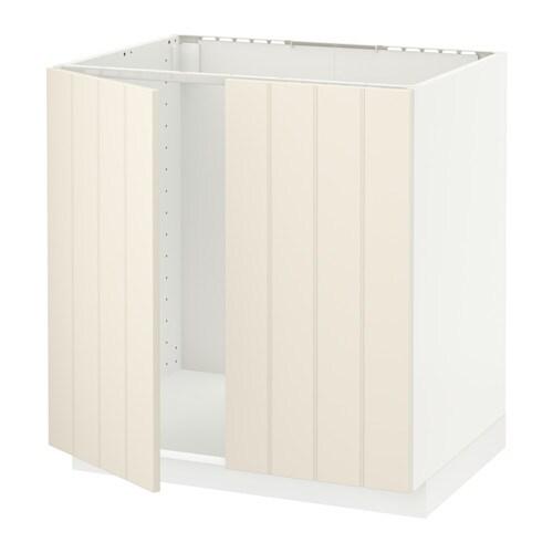 metod unterschrank f r sp le 2 t ren hittarp elfenbeinwei 80x60 cm ikea. Black Bedroom Furniture Sets. Home Design Ideas