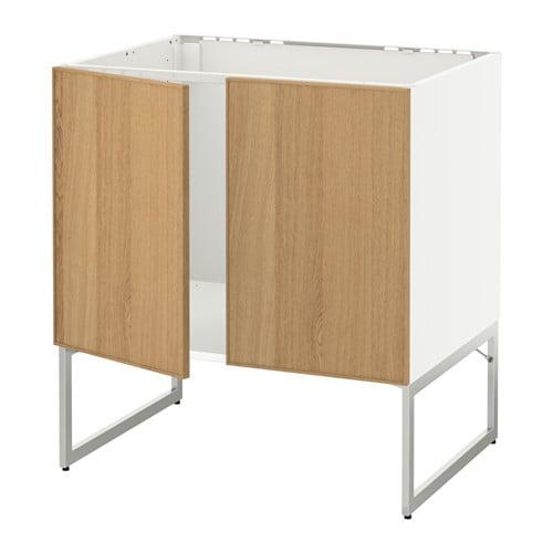 metod unterschrank f r sp le 2 t ren ekestad eiche ikea. Black Bedroom Furniture Sets. Home Design Ideas