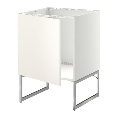 Metod Unterschrank Für Spüle, Weiß, Veddinge Weiß - 60X60X60 Cm - Ikea