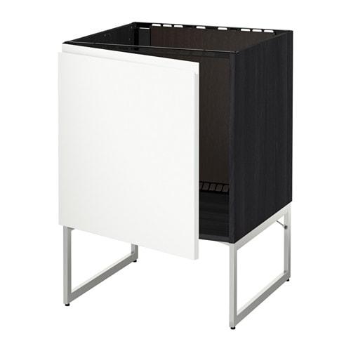 metod unterschrank f r sp le holzeffekt schwarz voxtorp wei ikea. Black Bedroom Furniture Sets. Home Design Ideas