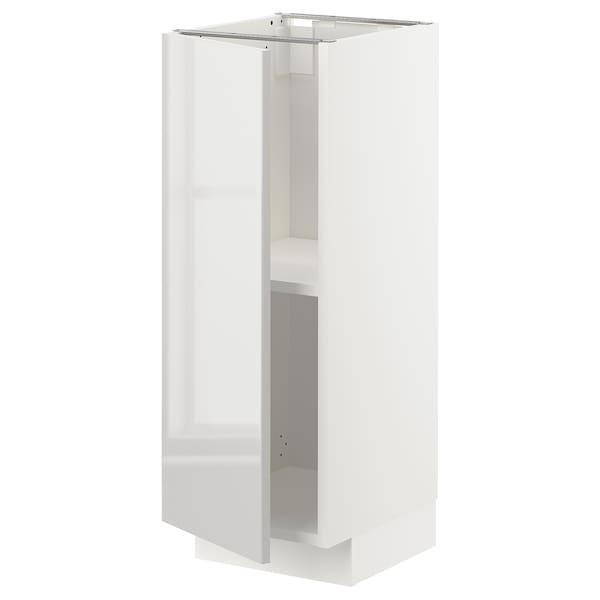 METOD Unterschrank mit Böden, weiß/Ringhult hellgrau, 30x37 cm