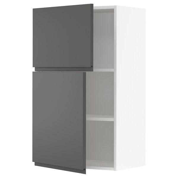 METOD Wandschrank mit Böden und 2 Türen weiß/Voxtorp dunkelgrau 60.0 cm 39.1 cm 100.0 cm