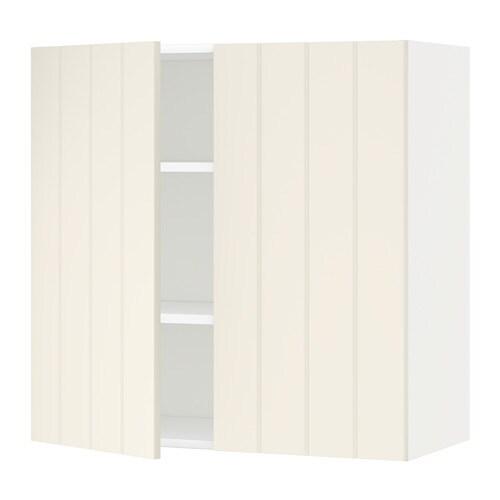 metod wandschrank mit b den und 2 t ren hittarp elfenbeinwei 80x80 cm ikea. Black Bedroom Furniture Sets. Home Design Ideas