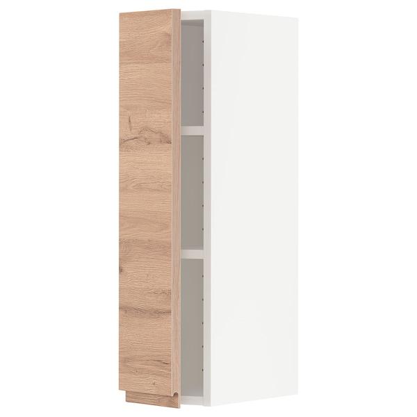 METOD Wandschrank mit Böden, weiß/Voxtorp Eichenachbildung, 20x80 cm
