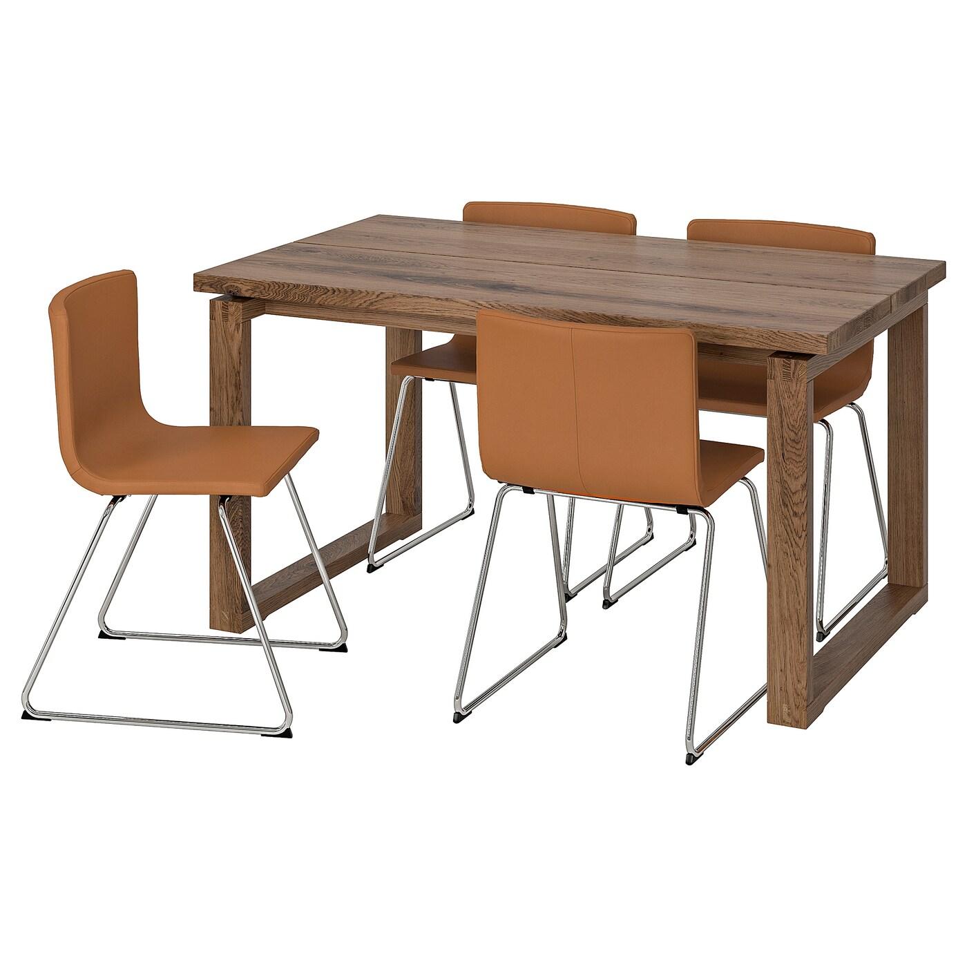 MÖRBYLÅNGA BERNHARD Tisch Und 4 Stühle Eichenfurnier