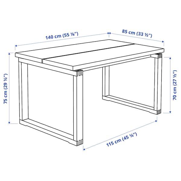 MÖRBYLÅNGA Tisch, Eichenfurnier braun las., 140x85 cm