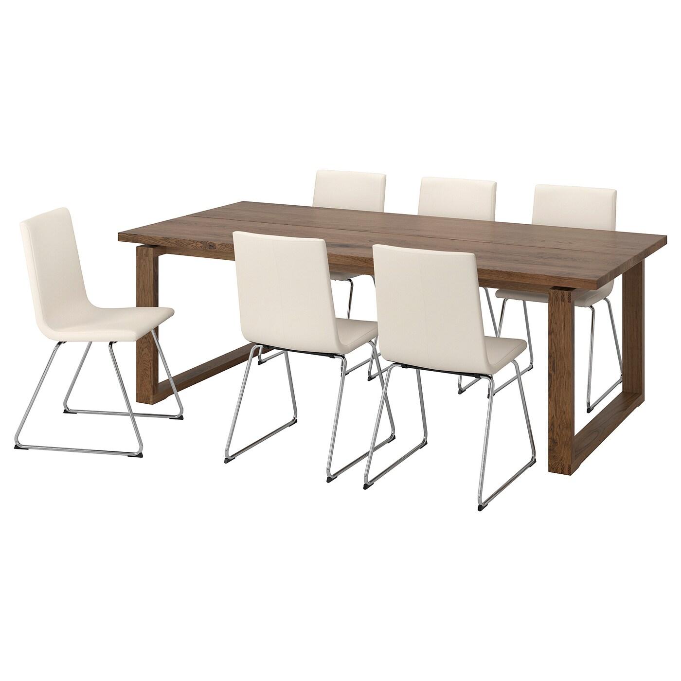 MÖRBYLÅNGA VOLFGANG Tisch Und 6 Stühle Braun Bomstad
